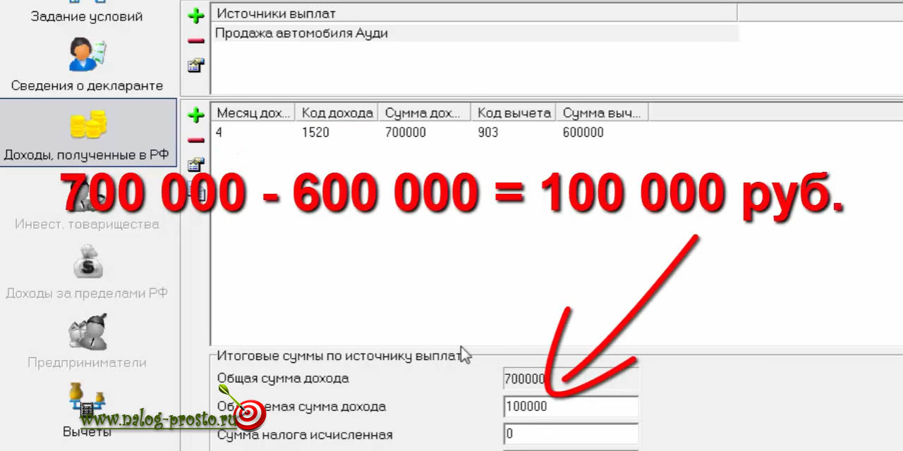 Декларация 3 ндфл при продаже автомобиля за 100 000 понятие и порядок регистрации ип