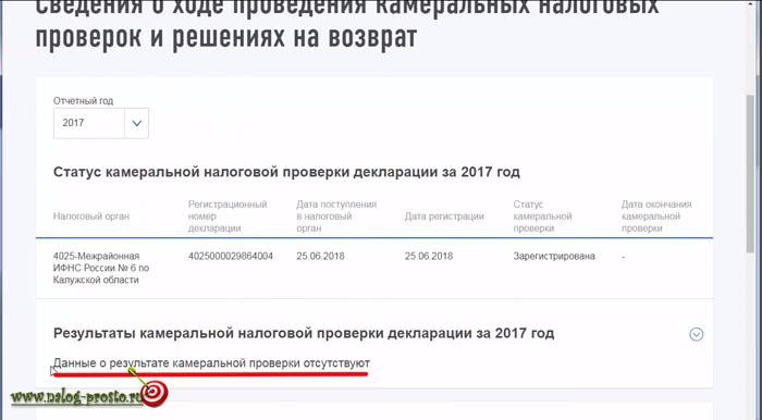 Новый ЛК налогоплательщика, статус декларации 3-НДФЛ