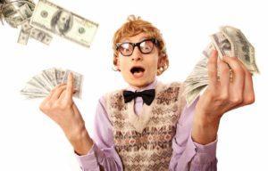 Налог на выигрыш в лотерею, Очкарик с деньгами